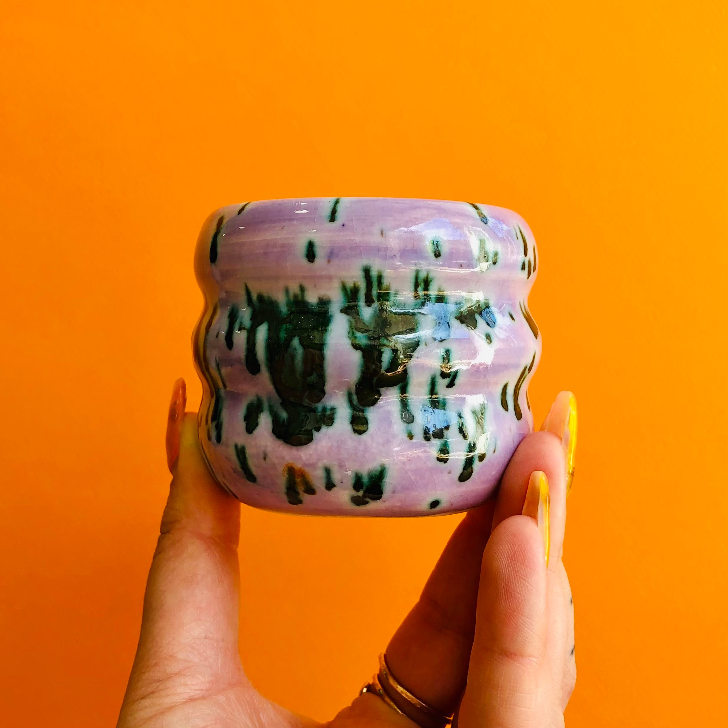 PURPLE SLIME TRIPPY MINI PLANTER
