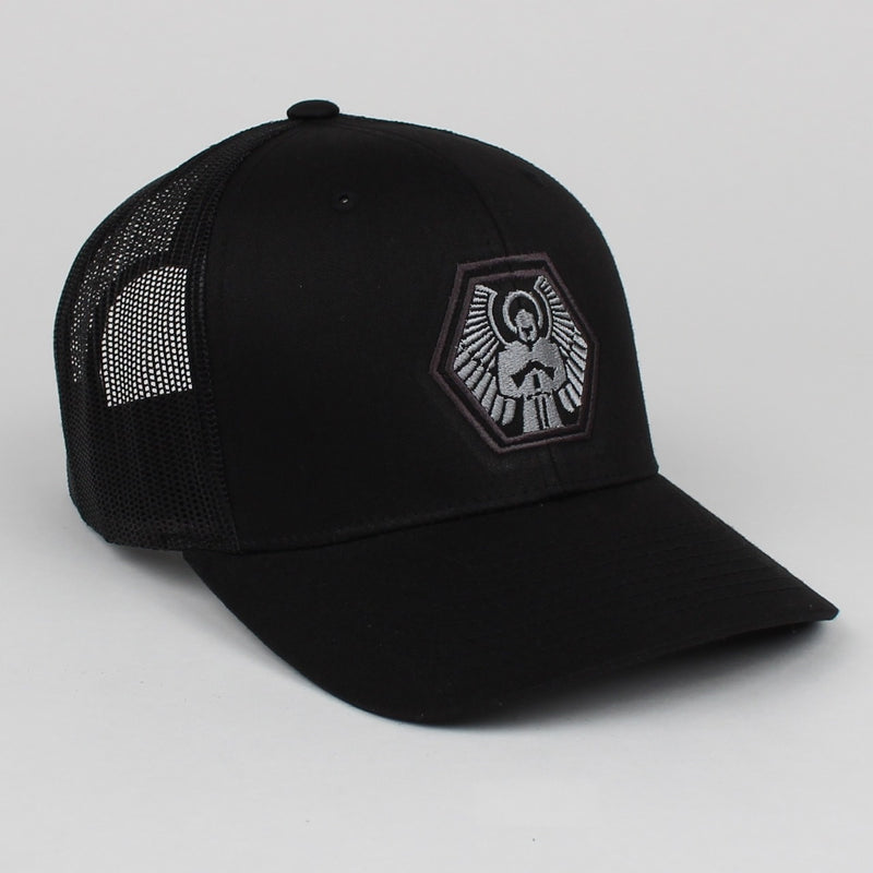 Signature Hex Hat - Black Trucker Style Snapback