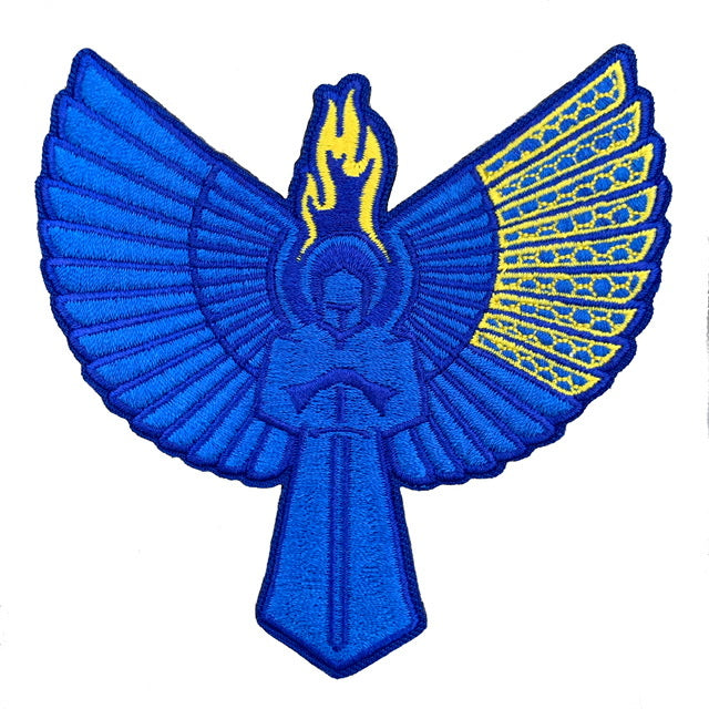 BLUE AND YELLOW Psalm 144:1 Icon Patch