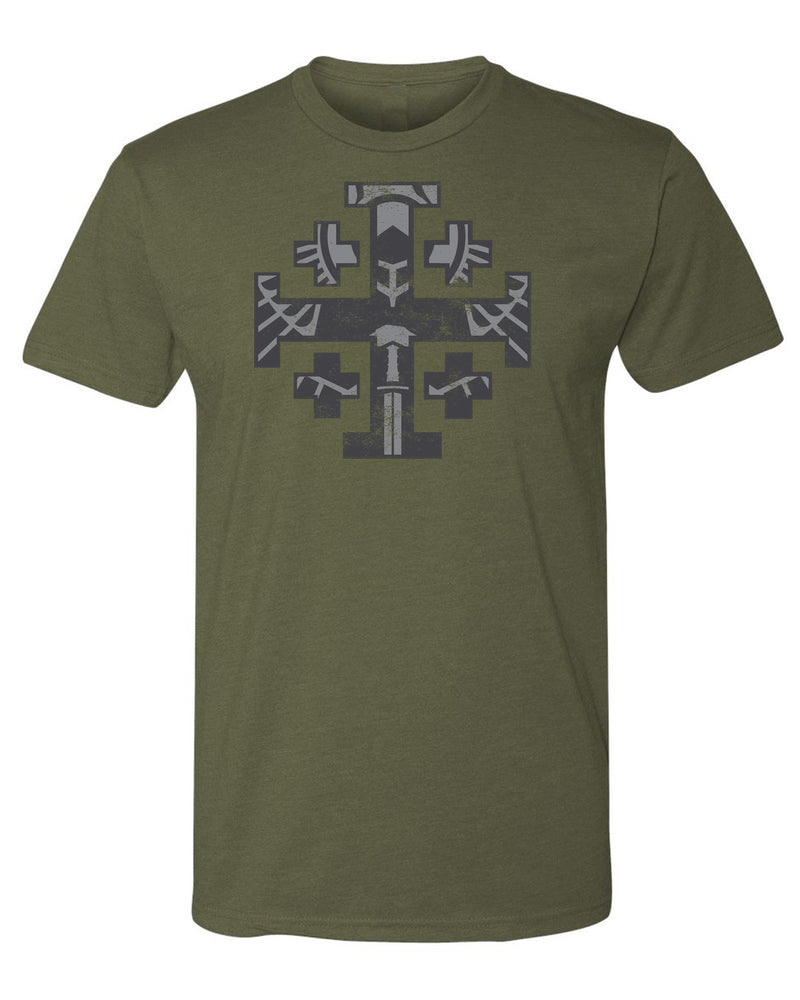 Jerusalem Cross T-shirt (Gray Print)