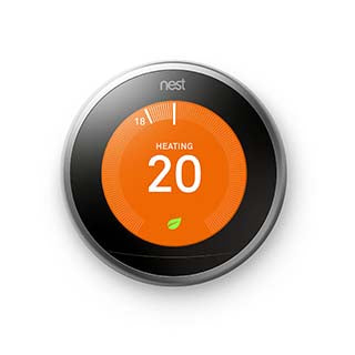 Google Nest Learning Thermostat (Stainless Steel) smart home 3rd generation