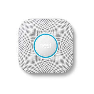 Google Nest Protect white smart home 2nd generation smoke alarm w/Battery