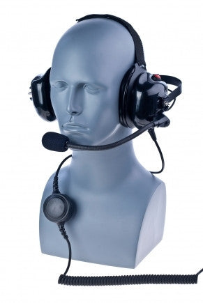 Behind the head double muff Heavy Duty headset - Freeway Communications - Canada's Wireless Communications Specialists