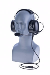 Over the Head Double Muff Noise Attenuation Headset with Replaceable Cable (sold separately) - Freeway Communications - Canada's Wireless Communications Specialists