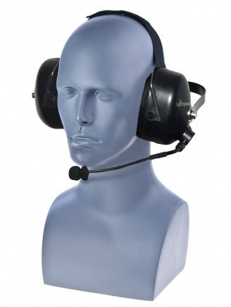 Behind the Head Double Muff Noise Attenuation Headset with Replaceable Cable (sold separately) - Freeway Communications - Canada's Wireless Communications Specialists