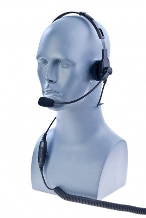 Over the head, OEM style metal headband, single muff headset - Freeway Communications - Canada's Wireless Communications Specialists