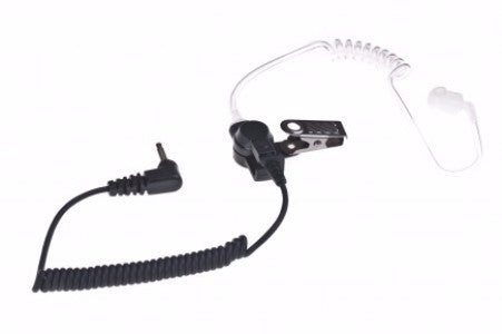 "Single Pin Listen Only w/ QD Acoustic Tube (18"", 3.5mm L-shape) - Freeway Communications - Canada's Wireless Communications Specialists"