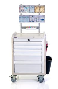 "24"" 5-DRAWER ANESTHESIA CART WITH ACCESSORIES - buytalon.com"