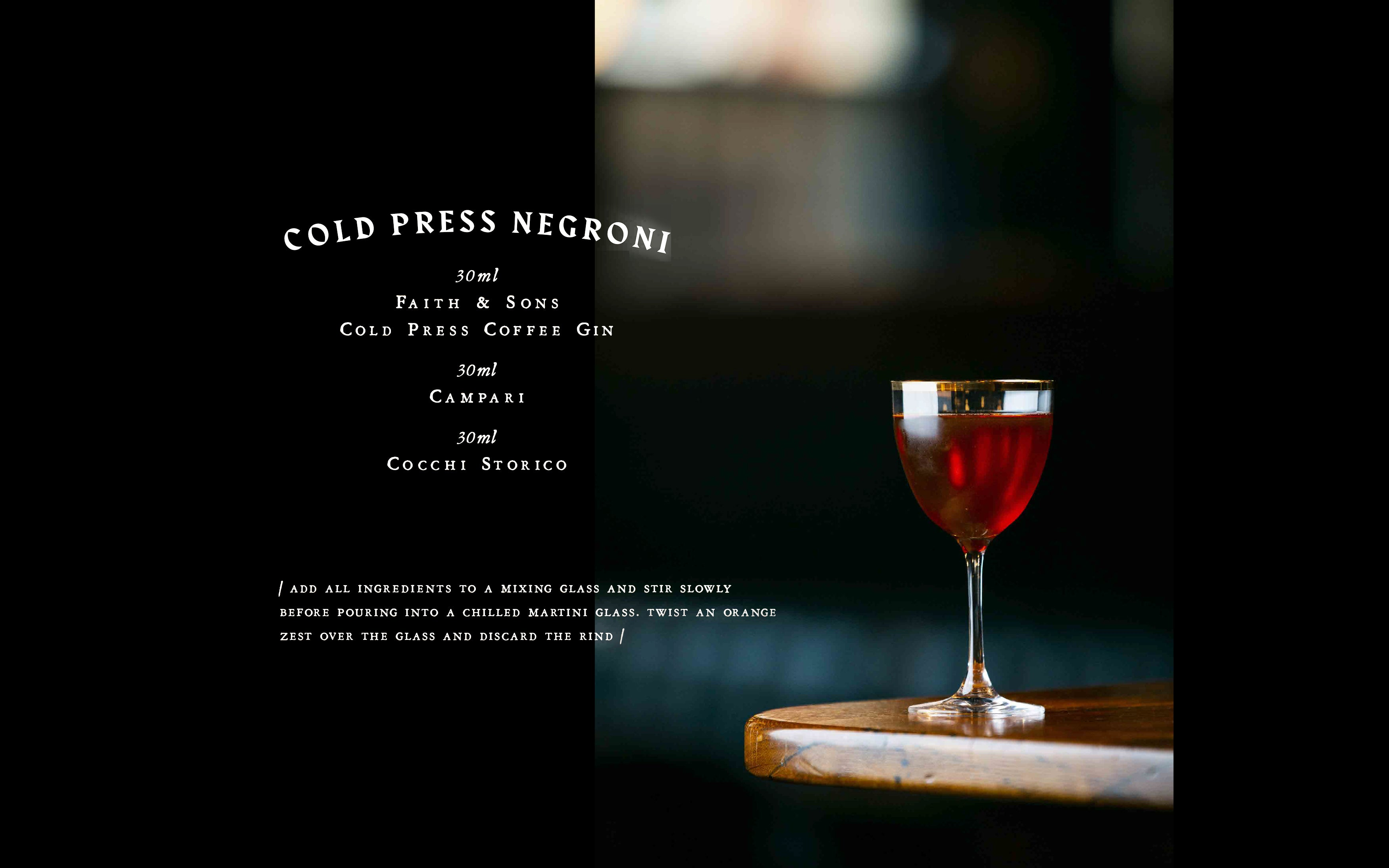 Cold Press Negroni