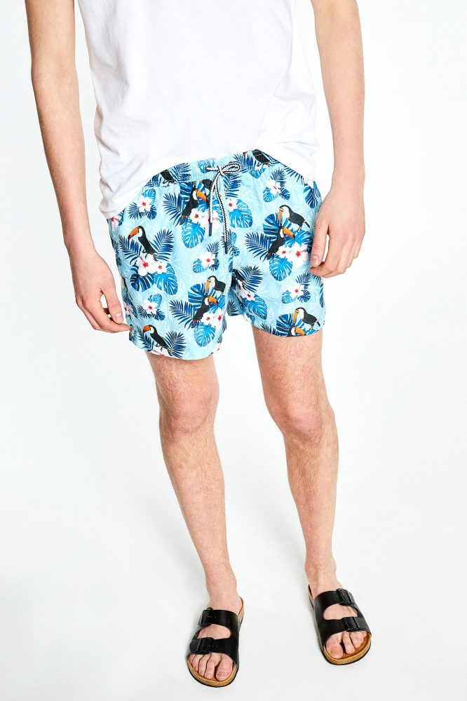 Short de bain imprimé tropical Sfera