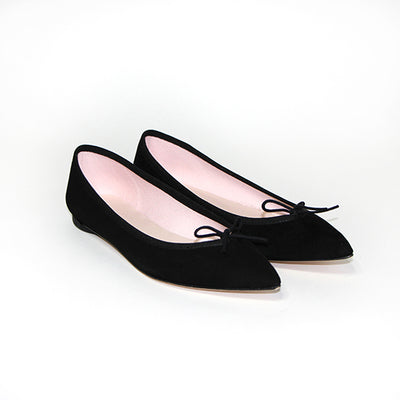 Ballerines daim pointues - Brigitte