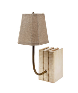 Decorative Book Lamp in Vellum Leather (VH-LAMP-VELL)