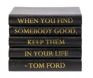 "Black Shagreen Box with ""When You Find Somebody..."" Tom Ford Quote (VH-BOX-SHAG-FORD)"