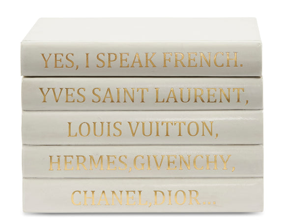 Vellum White Leather Bound Box with