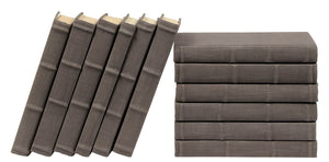 12 Vol. Full Linen Bound Decorative Books in Charcoal Gray (VH-FL-CHARGRAY-12)
