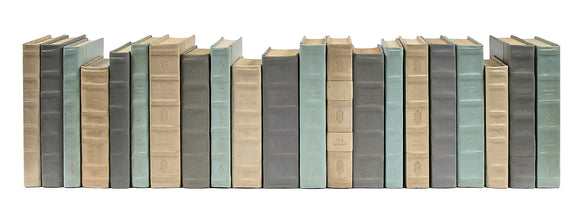 21 Vol. Decorative Book Set - Tonal Leather Mix (VH-LT2-21)