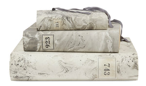 3 Piece Set of Hand Painted Marble Book Boxes in Gray (VH-MBSET-GRAY-03)