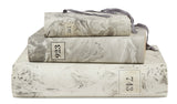 Hand Painted Marble Book Box in Gray - Medium (VH-MBMD-GRAY)