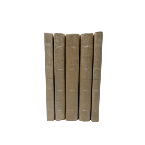 Tan Shagreen Bound Decorative Books - Sold by the book (VH-TANSHAG)