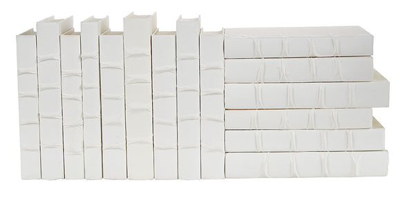 15 Vol. Set of Decorative Books in White (VH-WHITE-15)