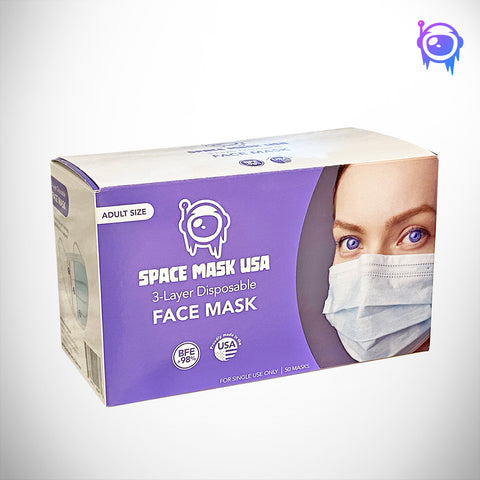 Space Mask USA Face Masks | 50 Pack - Space Ice Therapy