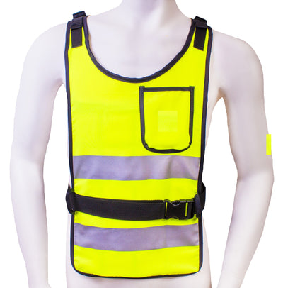 Essential Cooling Vest With Reflective Stripe (Hi Vis Yellow) - Space Ice Therapy
