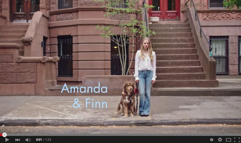 Amanda Seyfried and her dog Finn Australian Shepherd Vogue Magazine
