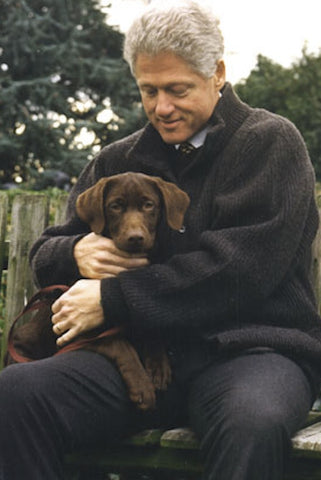 president bill clinton and dog