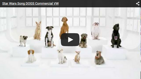 dogs singing barking star wars commercial