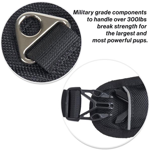 SportLeash Best Dog Harness Big Dog Harness SportHarness Military Grade Strong Components