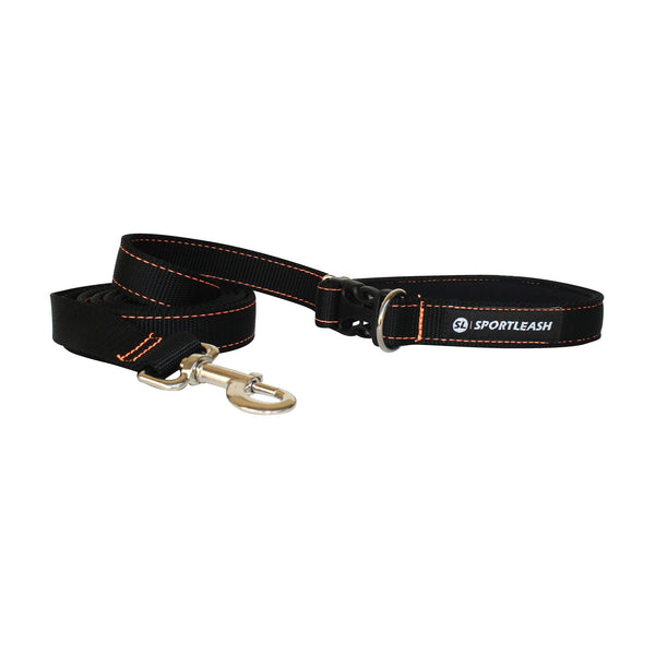 Hands Free Black w/ Neon Orange Leash