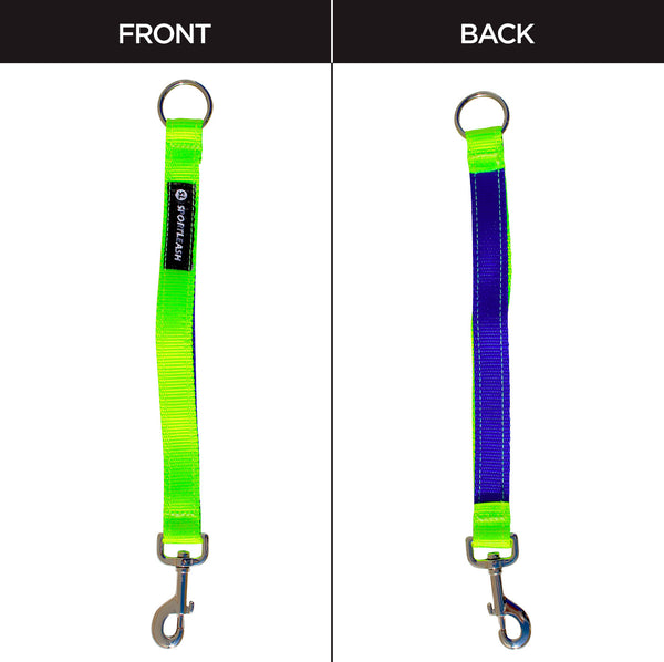 Neon Yellow Royal Blue Dog Leash Extender Sportleash