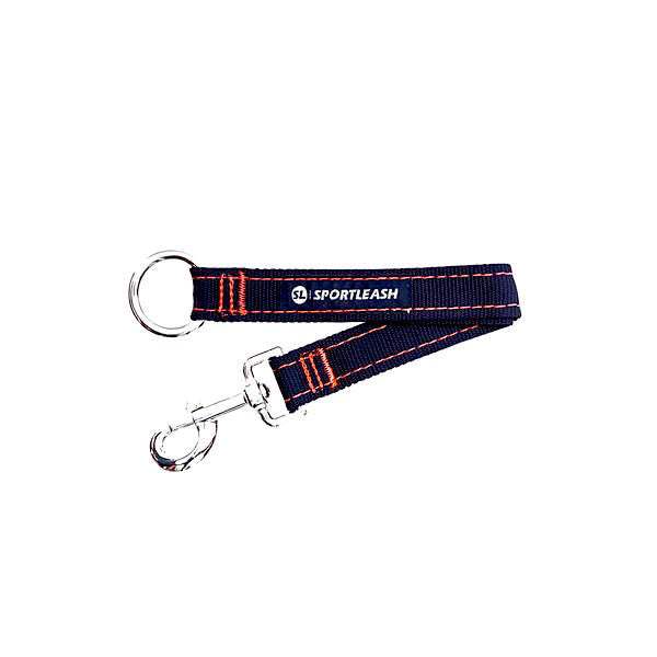Black on Black Neon Orange Dog Leash Extender