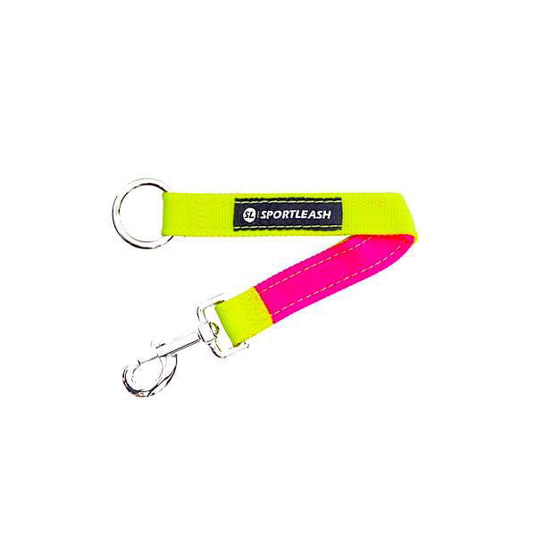 Neon Yellow Neon Pink Dog Leash Extender Sportleash