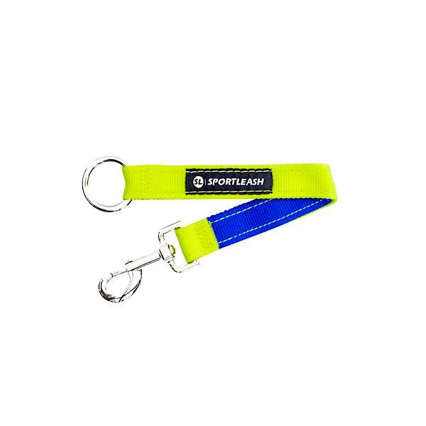 Neon Yellow and Royal Blue Dog Leash Extender
