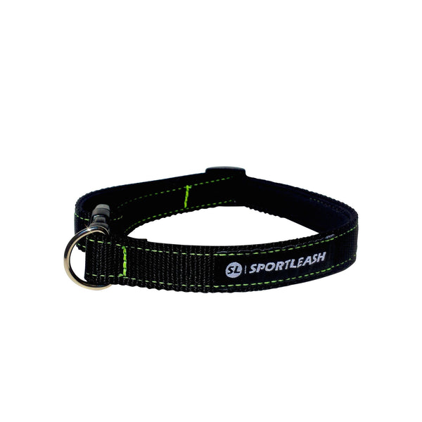 Black Neon Green Neoprene Dog Collar