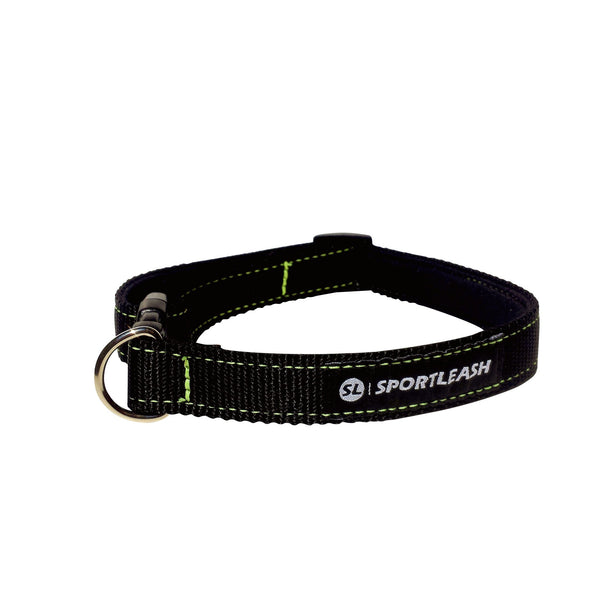 Black Neon Yellow Neoprene Dog Collar