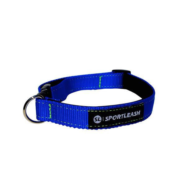 Blue Neon Yellow Neoprene Dog Collar