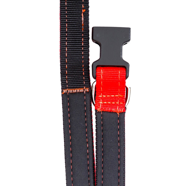 Neon Orange Black Dog Leash Sportleash