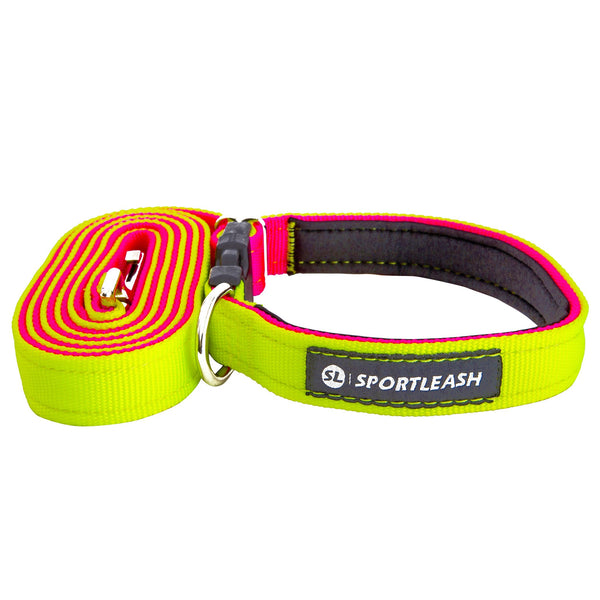 Hands Free Neon Yellow Neon Pink Leash