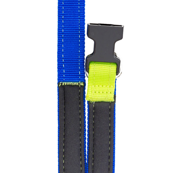 Neon Yellow Royal Blue Dog Leash Sportleash