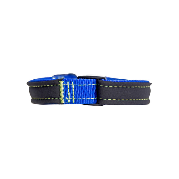 Royal Blue Neon Yellow Neoprene Dog Collar