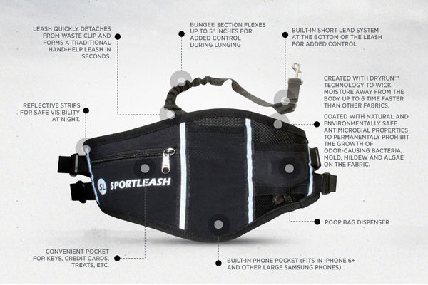 Waist SportPack Running Pack With Leash Product Features