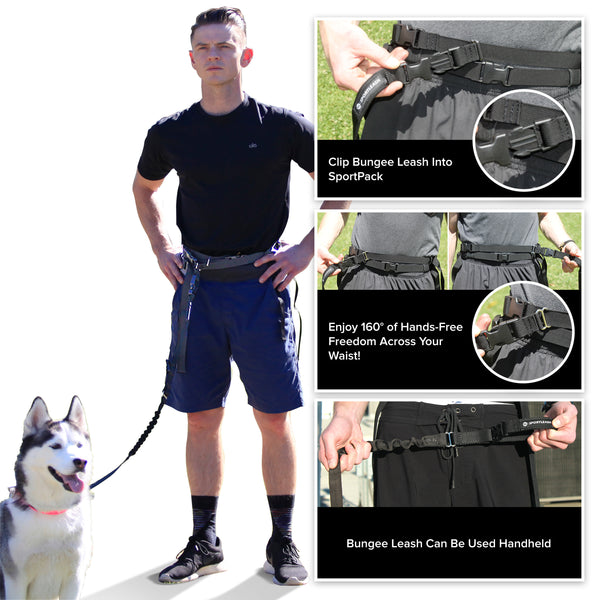 Hands-Free SportPack w/ Detachable Bungee Dog Leash