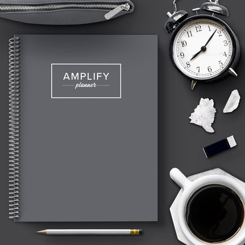 charcoal undated amplify planner