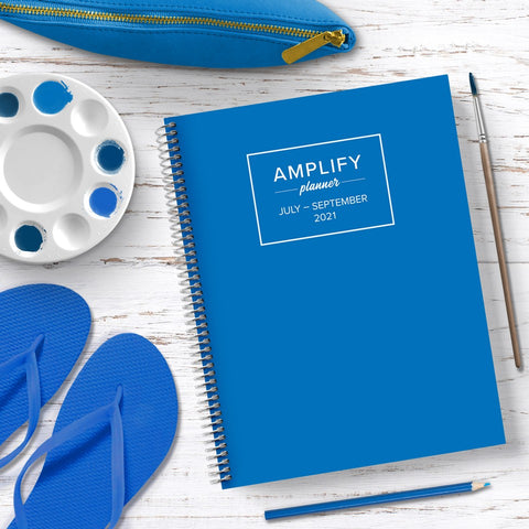 electric blue amplify planner