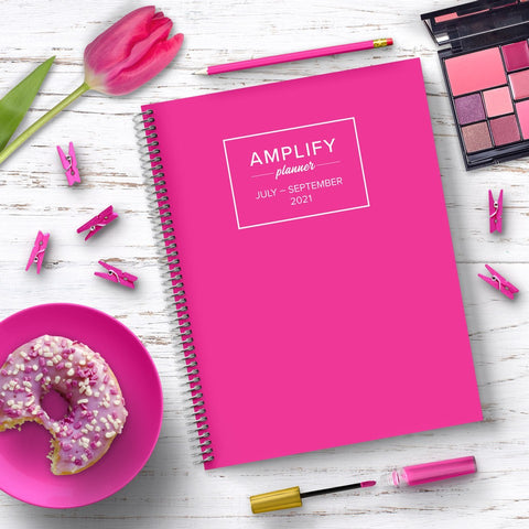 hot pink amplify planner