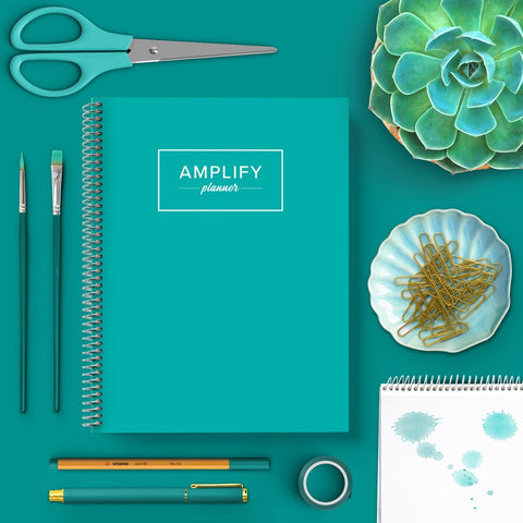 teal undated amplify planner