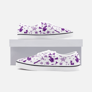 White Purple Witch Halloween Sneakers