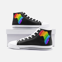 Load image into Gallery viewer, Rainbow Africa High Top Sneakers